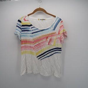 Little Yellow Button Short Sleeve Pocket T-Shirt